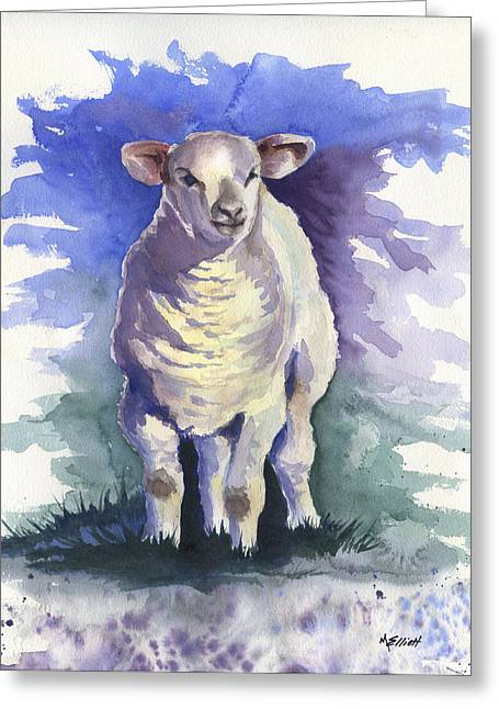 Lambs Greeting Cards - Shellies Lamb Greeting Card by Marsha Elliott
