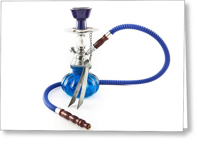Charcoal Photographs Greeting Cards - Shisha pipe Greeting Card by Tom Gowanlock