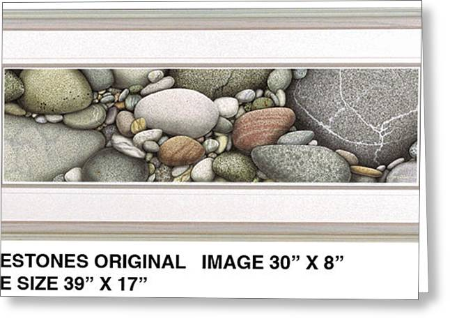 North Shore Paintings Greeting Cards - Shore Stones Greeting Card by JQ Licensing