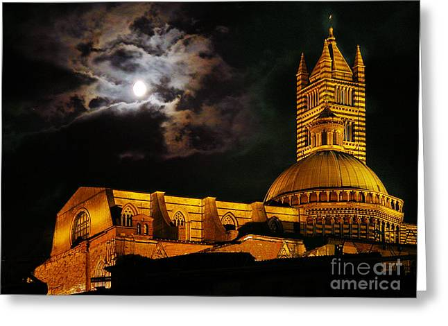 Siena Italy Greeting Cards - Siena cathedral Greeting Card by Jim Wright