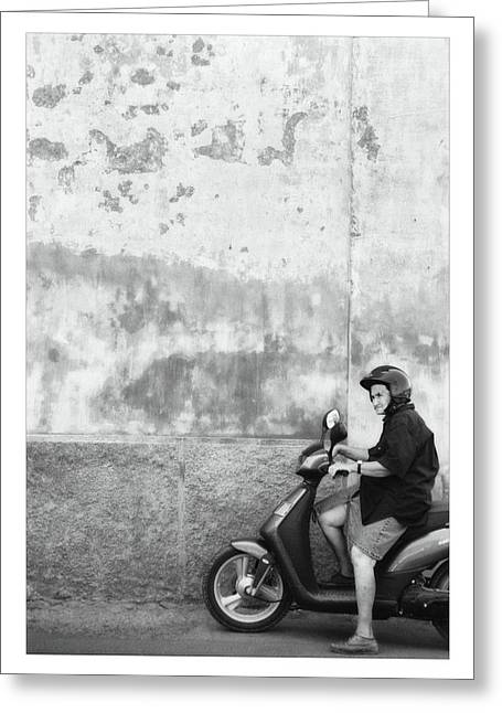 All Blacks Greeting Cards - Signora black and white Greeting Card by Marco Hietberg