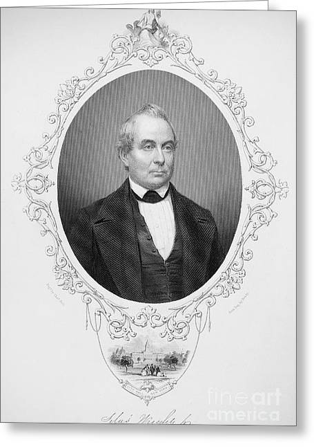 Autograph Greeting Cards - Silas Wright (1795-1847) Greeting Card by Granger
