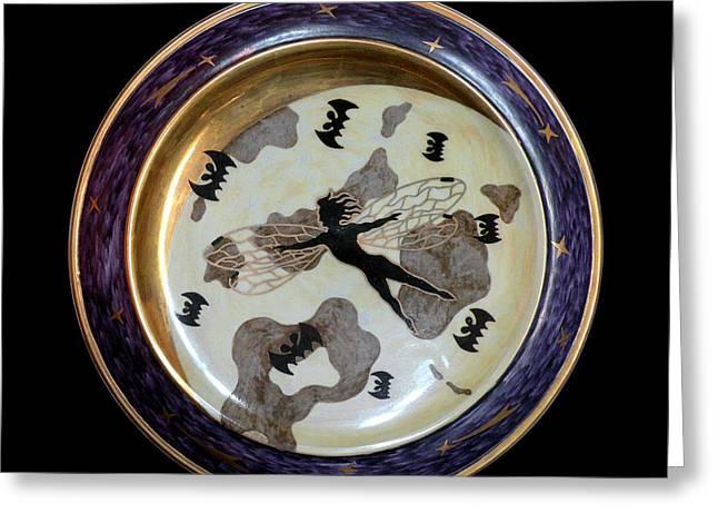 Moon Ceramics Greeting Cards - Silent flight. Greeting Card by Vladimir Shipelyov