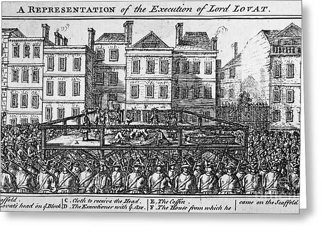 Beheading Photographs Greeting Cards - SIMON FRASER (c1667-1747) Greeting Card by Granger