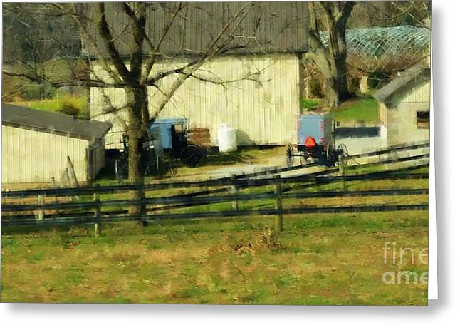 Pennsylvania Dutch Greeting Cards - Simple Times Greeting Card by Debbi Granruth