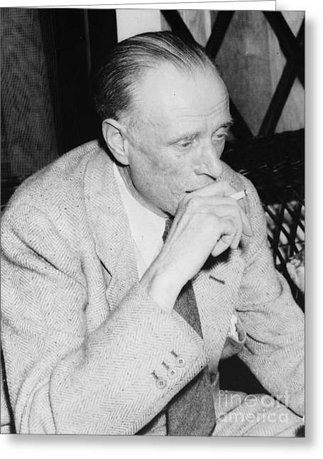 Smoker Greeting Cards - Sinclair Lewis (1885-1951) Greeting Card by Granger