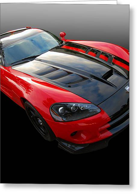 Mopar Collector Greeting Cards - Sinister Greeting Card by Bill Dutting