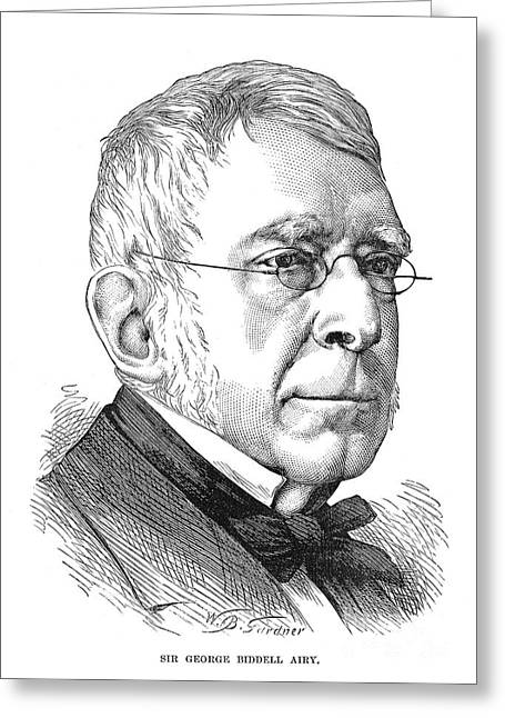 Sideburns Greeting Cards - Sir George Biddell Airy Greeting Card by Granger