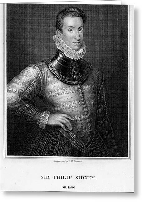Many Greeting Cards - Sir Philip Sidney Greeting Card by Granger