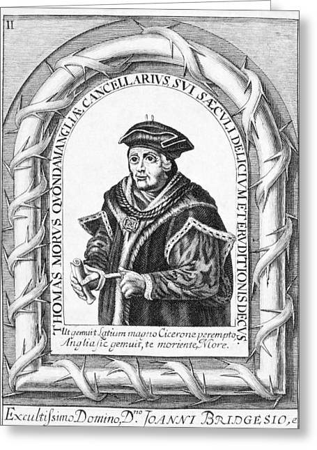 1500s Greeting Cards - Sir Thomas More, English Statesman Greeting Card by Middle Temple Library