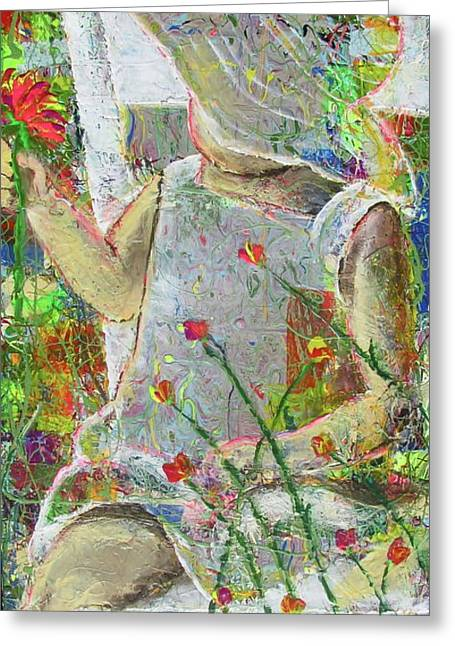 Living With Joy. Greeting Cards - Sitting A Spell... Greeting Card by Jacqueline Athmann