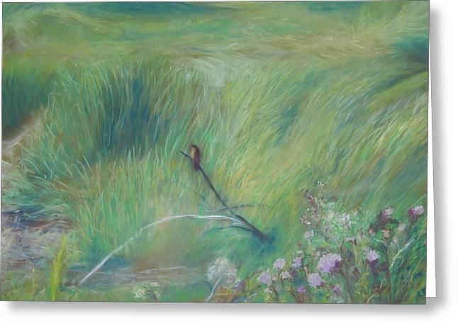Wetlands Pastels Greeting Cards - Sitting Pretty Greeting Card by Jackie Bush-Turner
