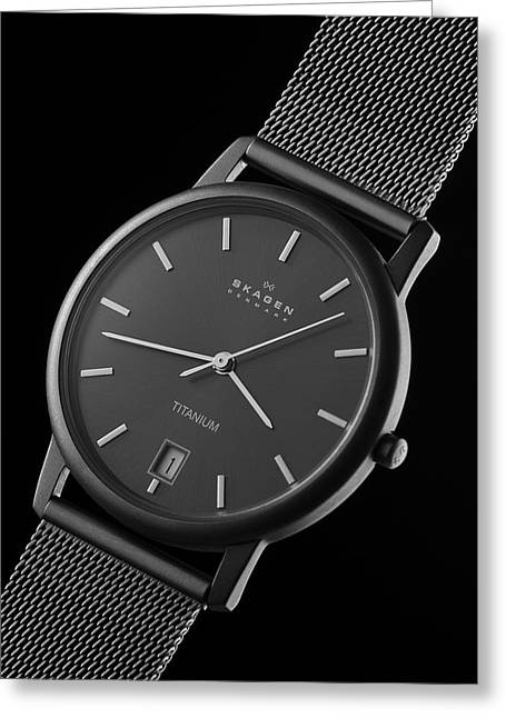 Skagen Greeting Cards - Skagen Titanium Watch Greeting Card by Noah Katz
