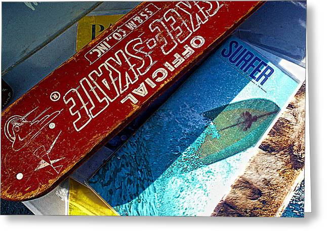 Skee Skate Greeting Card by Ron Regalado