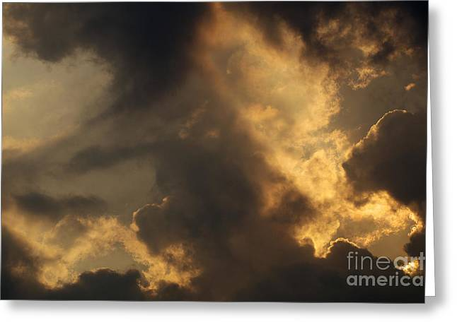 Sweating Greeting Cards - Sky Greeting Card by Odon Czintos