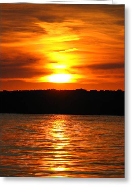 """sunset Photographs"" Greeting Cards - Sky On Fire Greeting Card by Jackie Novak"