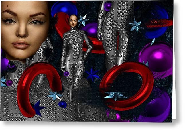 Sky Woman Greeting Card by Bogdan Floridana Oana