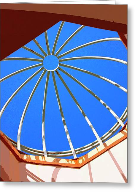 Vertigo Greeting Cards - SKYLIGHT Palm Springs Greeting Card by William Dey