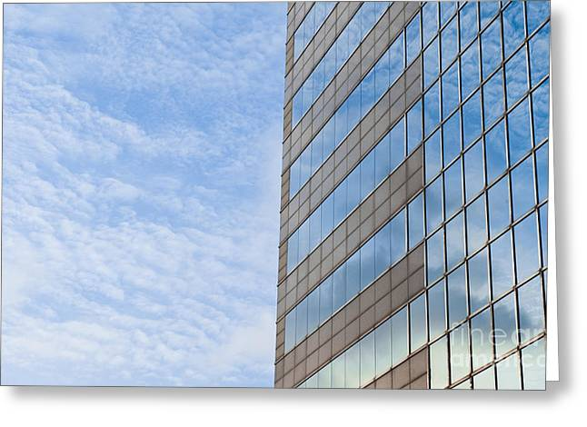 Curtain Wall Greeting Cards - Skyscraper Greeting Card by Jacobs Stock Photography