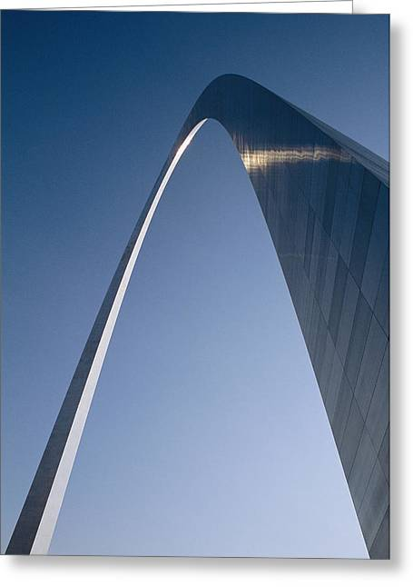 Historic Site Greeting Cards - Skyward View Of The Gateway Arch Greeting Card by Paul Damien