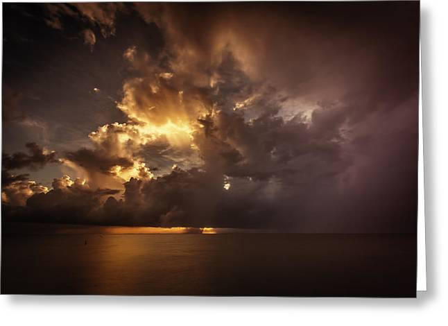 Sliver Sunrise II Greeting Card by Mabry Campbell