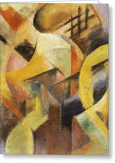 Small Abstract Greeting Cards - Small Composition I Greeting Card by Franz Marc