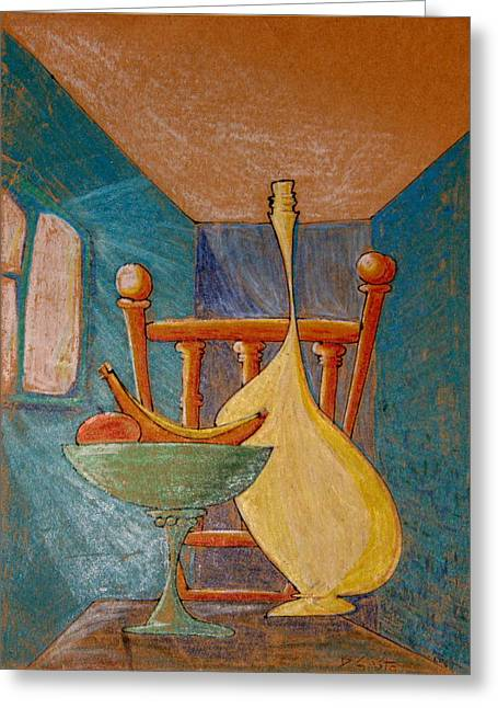 Denny Casto Greeting Cards - Small room with table and chair Greeting Card by Denny Casto