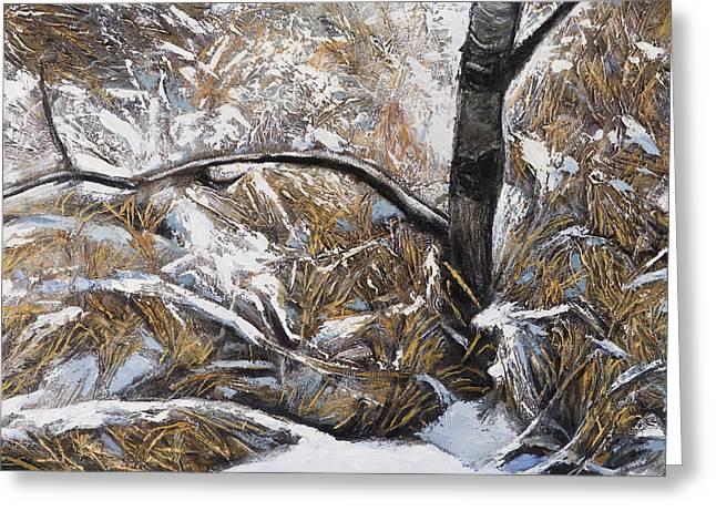 Snow Grass Greeting Card by Jack Tzekov