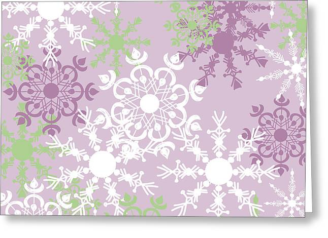 Snowflake Greeting Cards - Snowflakes Greeting Card by HD Connelly