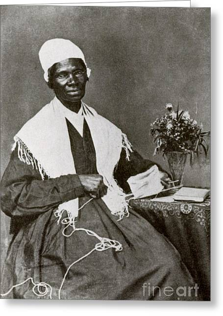 Abolition Greeting Cards - Sojourner Truth, African-american Greeting Card by Photo Researchers