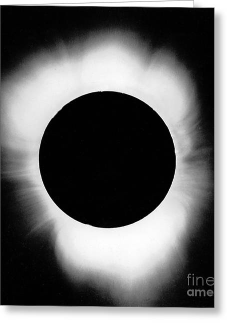 Solar Eclipse Greeting Cards - Solar Eclipse Greeting Card by Science Source