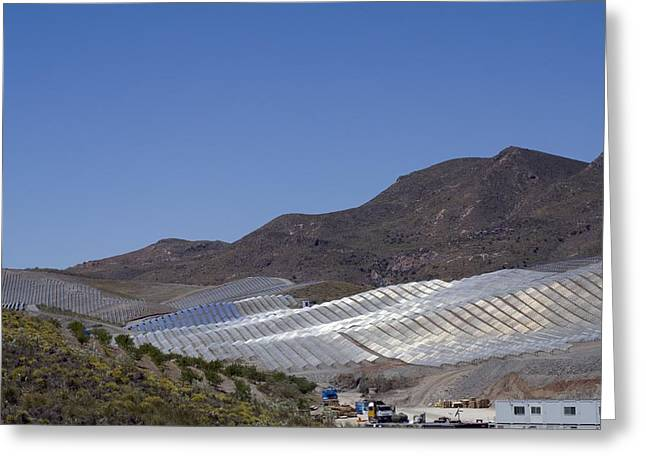 Generators Greeting Cards - Solar Power Plant, Cala San Pedro, Spain Greeting Card by Chris Knapton