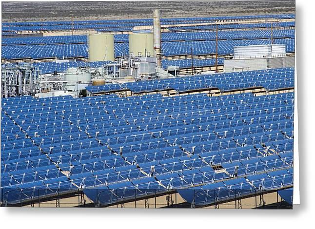 Solar Power Greeting Cards - Solar Power Plant, California, Usa Greeting Card by David Nunuk