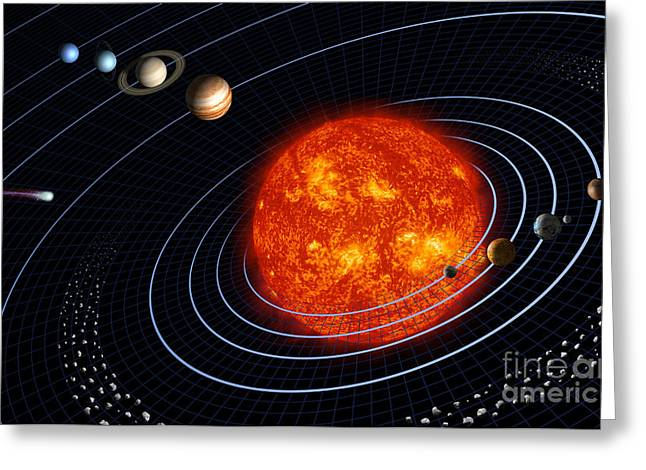 Asteroid Greeting Cards - Solar System Greeting Card by Stocktrek Images