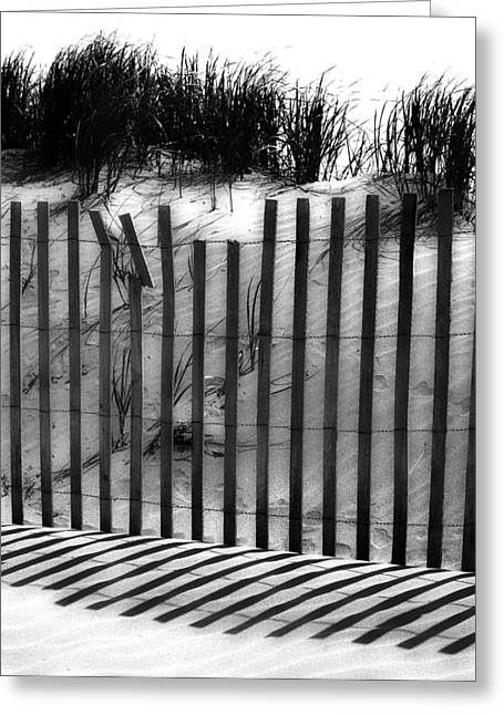 Sand Fences Photographs Greeting Cards - Soliciting The Sand Greeting Card by Jerry Cordeiro