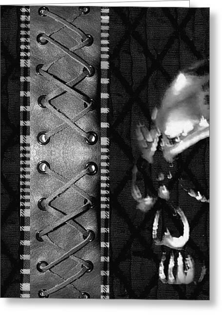 Solo Skull Greeting Card by Roseanne Jones