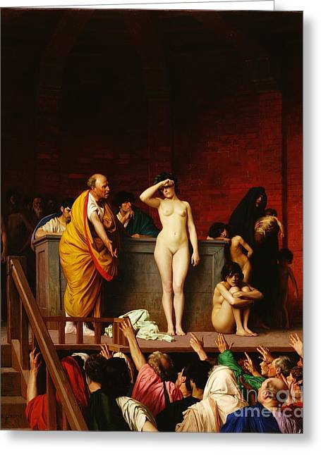 Slaves Greeting Cards - Soubor Greeting Card by Pg Reproductions