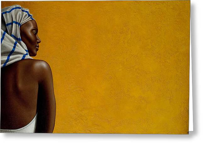 Black Woman Greeting Cards - Soul Gleams Greeting Card by Horacio Cardozo