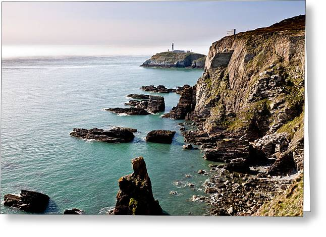 South Stack Greeting Card by Gary Finnigan