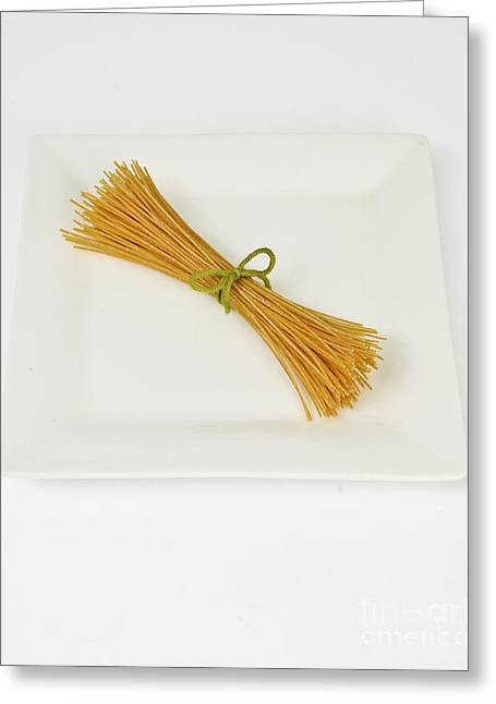 Spaghetti Greeting Cards - Soybean Spaghetti Greeting Card by Photo Researchers