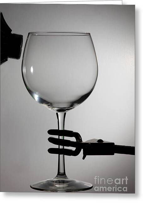 Resonator Greeting Cards - Speaker And A Glass Greeting Card by Ted Kinsman