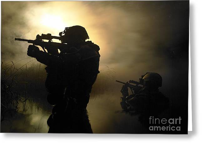 Sharpshooter Greeting Cards - Special Operation Forces Combat Divers Greeting Card by Tom Weber