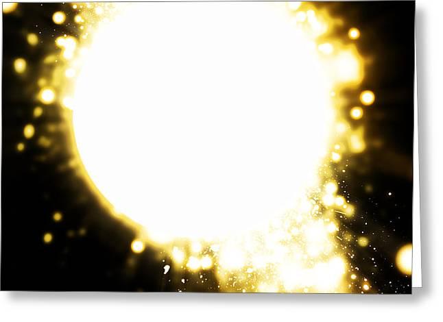 sphere lighting Greeting Card by Setsiri Silapasuwanchai