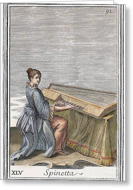 Spinet, 1723 Greeting Card by Granger