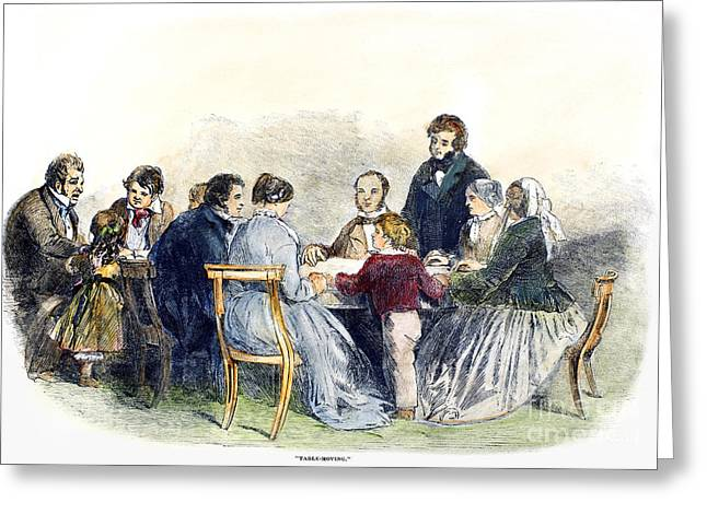 Seance Greeting Cards - Spiritualism: Seance, 1853 Greeting Card by Granger
