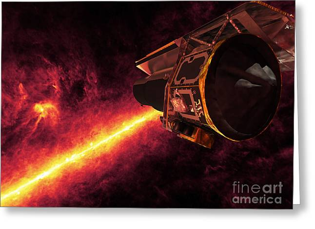Rho Greeting Cards - Spitzer Seen Against The Infrared Sky Greeting Card by Stocktrek Images