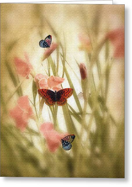 Canvas Floral Greeting Cards - Spring Canvas Greeting Card by Jessica Jenney