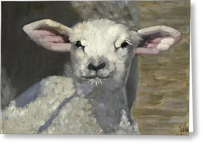 Recently Sold -  - Barn Yard Greeting Cards - Spring Lamb Greeting Card by John  Reynolds