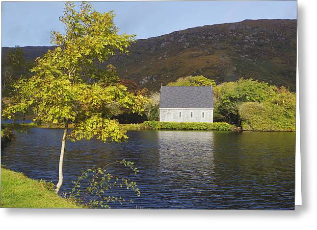 Gougane Barra Church Greeting Cards - St. Finbarres Oratory On Shore Greeting Card by Ken Welsh