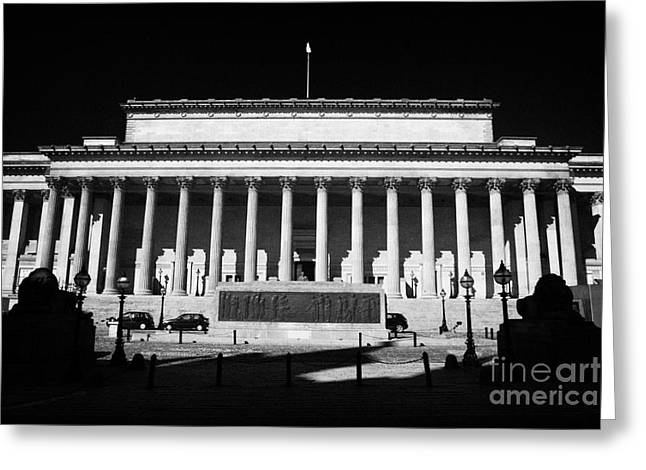 Centre Court Greeting Cards - St Georges Hall liverpool merseyside england uk Greeting Card by Joe Fox